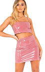 Felicia Slinky PVC Crop Top Thumbnail