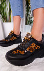 Fifi Chunky Arched Leopard Sport Trainer Thumbnail