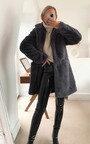 Fleur Long Faux Fur Coat Thumbnail