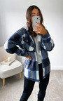 Fliss Checked Hooded Shirt Jacket Thumbnail