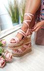 Fliss Faux Suede Strappy Flatform Sandals Thumbnail