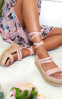 Fliss Faux Suede Strappy Flatform Sandals Thumbnail