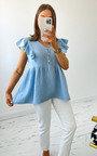 Flo Ruffle Shoulder Blouse Thumbnail