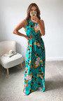 Flora Printed Maxi Dress Thumbnail