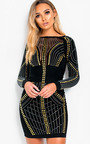 Flora Studded Embellished Bodycon Dress Thumbnail