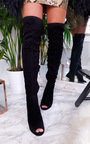 Flora Thigh High Peep Toe Boots  Thumbnail