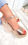 Floriana Metallic Braided Wedges Thumbnail