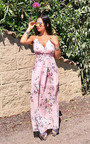 Flossy Backless Floral Maxi Dress Thumbnail