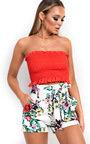 Fran High Waisted Floral Shorts  Thumbnail