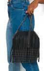 Freja Fringe Studded Shoulder Bag Thumbnail