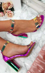 Freja Iridescent Barely There Block Heels Thumbnail