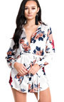 Freja Long-lined Floral Shirt Dress Thumbnail