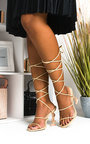 Freya Lace Up Statement Dollar Heels Thumbnail