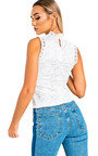 Frillie High Neck Lace Mesh Top Thumbnail