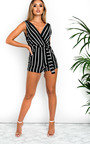 Geena Striped Playsuit Thumbnail