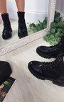 Gemma Faux Leather Lace Up Ankle Boot Thumbnail