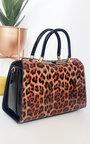 Gemma Leopard Print Patent Handbag Thumbnail