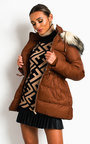 Gemma Padded Hooded Puffer Jacket Thumbnail