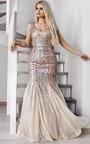 Genevieve Sequin Fishtail Maxi Dress Thumbnail