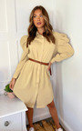 Geo Puff Sleeve Shirt Dress Thumbnail