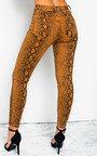 Geo Skinny Snake Skin High-Rise Jeans Thumbnail
