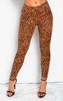 Geo Skinny Zebra High-Rise Jeans Thumbnail