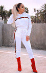 Georgia Stripe Hooded Crop Tracksuit Thumbnail