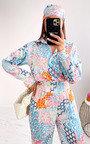 Geri Printed Jumpsuit with Bandana Thumbnail