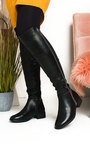 Gerri Faux Leather Studded Knee High Boots Thumbnail