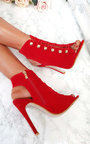 Gia Looped Corset Peep Toe Heels Thumbnail