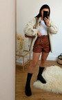 Gianna Faux Leather Shorts Thumbnail