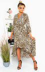 Gigi Printed Frill Maxi Dress Thumbnail