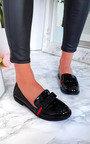 Gina Stripe Bow Flat Pumps Thumbnail