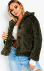 Gina Teddy Bear Button Up Jacket Thumbnail