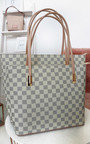 Grace Checked Two in One Handbag Thumbnail