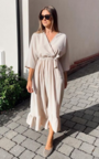 Grace Frill Midi Dress Thumbnail