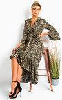 Grace Printed Frill Maxi Dress Thumbnail