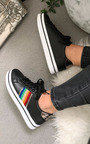 Grace Rainbow Stripe Trainers Thumbnail