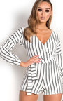Gracie Striped Wrap Playsuit  Thumbnail