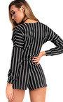 Gracie Striped Wrap Playsuit  Thumbnail