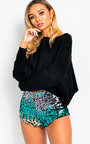 Hailey Sequin Hotpant Shorts Thumbnail