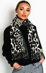 Hallie Leopard Print Shawl Thumbnail