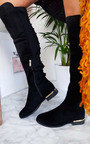 Hallie Over Knee Studded Faux Suede Boots Thumbnail