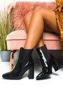 Hanna Croc Print Heeled Ankle Boots Thumbnail