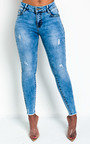 Hannah Distressed Frayed Skinny Jeans  Thumbnail