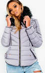 Harley Padded Faux Fur Hood Jacket Thumbnail