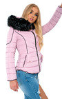 Harley Padded Faux Fur Hood Jacket Thumbnail