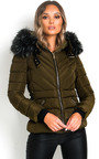 Harley Padded Faux Fur Hood Puffer Jacket Thumbnail