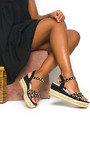 Harri Studded Wedged Sandals Thumbnail