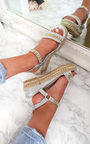 Harriet  Studded Strap Wedge Sandals Thumbnail